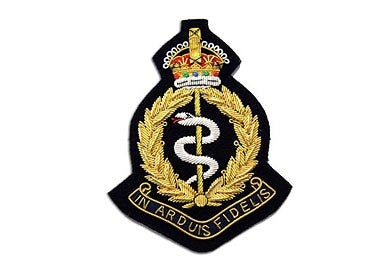 Royal Army Medical Corps Bullion Wire Blazer Badge