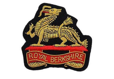 Royal Berkshire Regiment Bullion Wire Blazer Badge