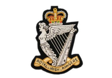 Royal Irish Rangers Bullion Wire Blazer Badges