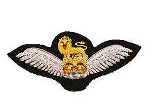 Army Air Corps Wing Bullion Wire Blazer Badge