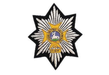 Worcestershire and Sherwood Bullion Wire Blazer Badge
