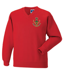 Queens Own Highlanders V Neck Sweatshirt
