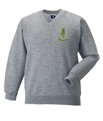 Queens Royal Hussars V neck Sweatshirt
