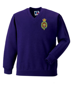 Blues And Royal V Neck Sweatshirt