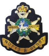 sherwood foresters notts and derby blazer badge