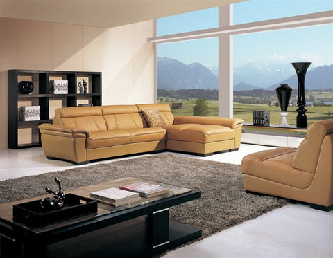 3-piece Leather Sectional 1159