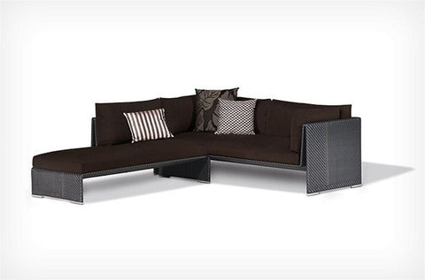 2-piece Poly Rattan Sectional Set