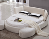 Heart Shaped Bed in White Fabric  BF05-0935