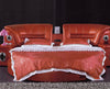 King Size Round Bed in Red Leather with Speakers BF05-45033