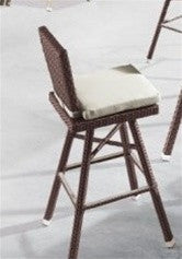 2-Pack Poly Rattan Patio Bar Stool CT8670