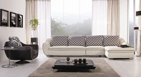 4-piece Leather Sectional Set SS1123A