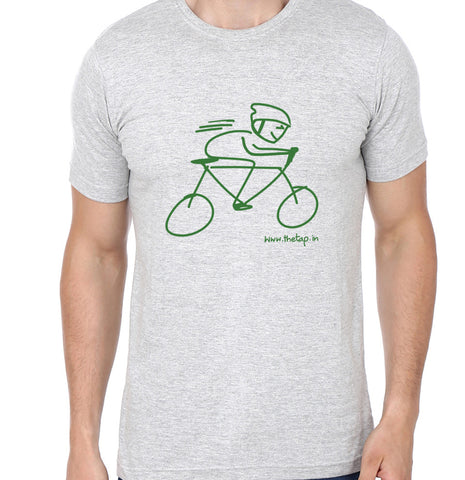 For the love of cycling: Grey unisex t-shirt