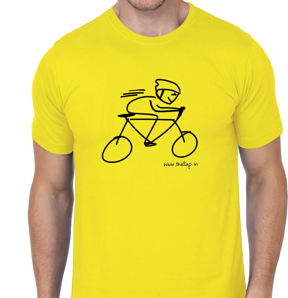 For the love of cycling: Yellow unisex t-shirt