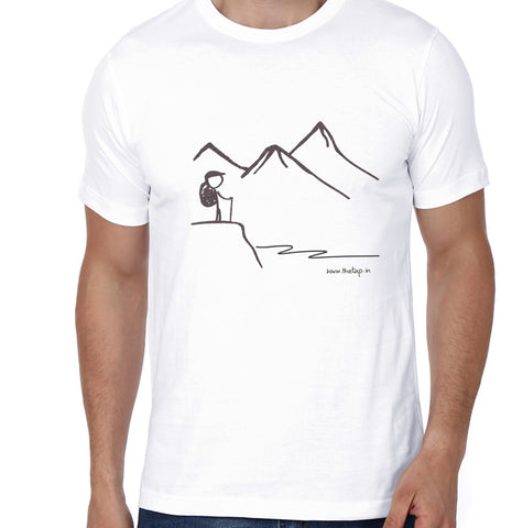 Peace in the Mountains: White unisex t-shirt