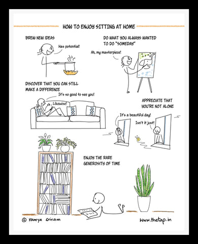 How To Enjoy Sitting At Home Framed Print
