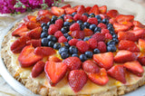 Berry Cookie Cake pizza recipe from Too Hot in the Kitchen