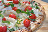easy Margherita Pizza from men's cookbook to grill pizza