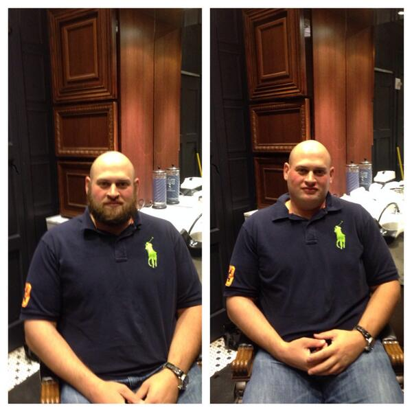 Before & After. Our clean shaven Head Winemaker, Greg Scheinfeld | UPROOT WINES | #FearTheBeard http://bit.ly/1MDBoJg;