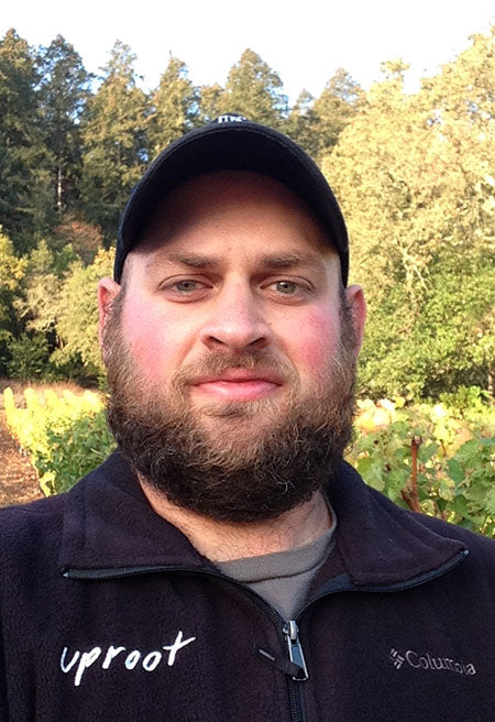Uproot Wines Head Winemaker, Greg Scheinfeld, sporting his harvest beard #FearTheBeard http://bit.ly/1MDBoJg
