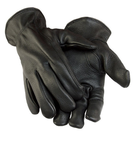 Black Deer Skin Leather Gloves