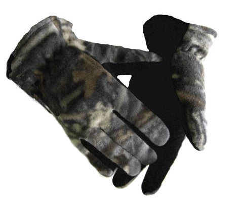 Fleece Deer Skin Gloves (Camo)