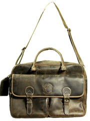 Dark Brown Distressed Leather Bag