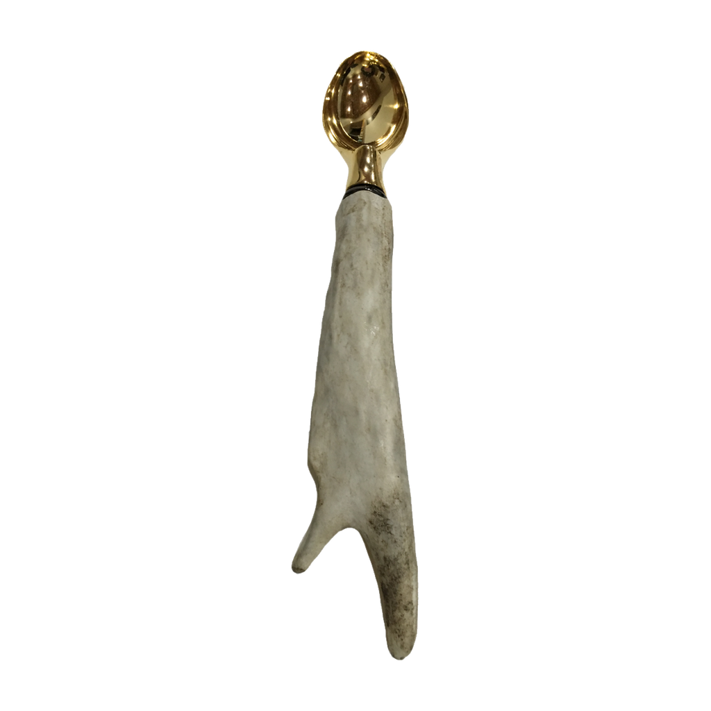 Antler Ice Cream Scoop - Gold