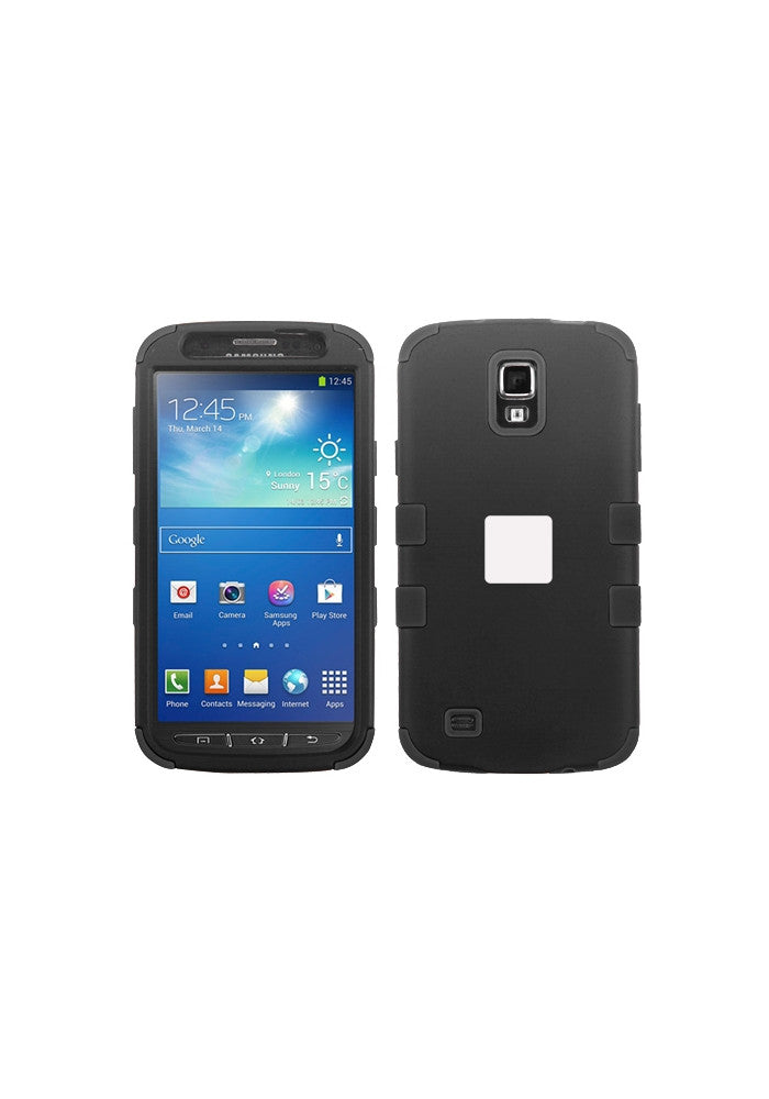 RUGGED Rubberized Black/Black – Galaxy S4 Active