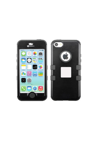 RUGGED Rubberized Black/Black – iPhone 5c