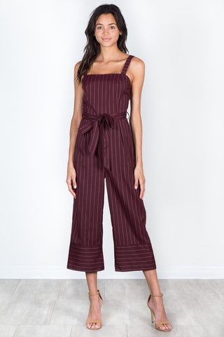 Beatriz Burgundy Jumpsuit