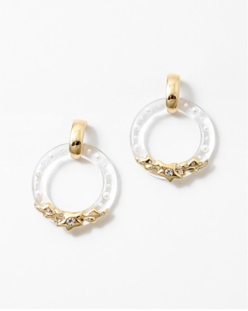 Lucite Gold Earrings