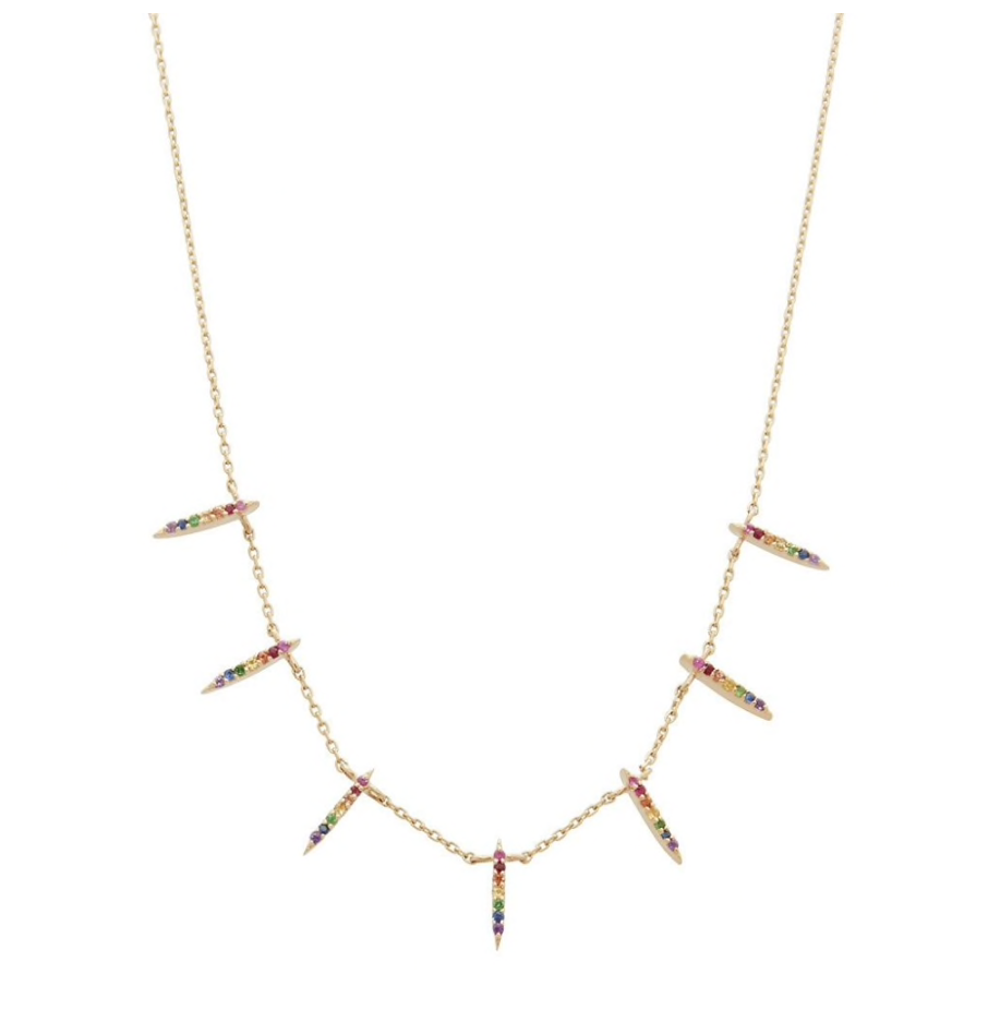 Rainbow Zirconia Necklace