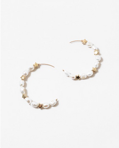 Star and Pearl Hoops