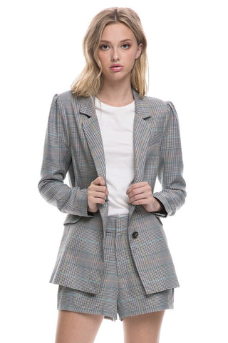 Power Plaid Blazer