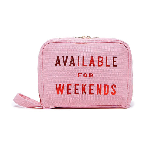 Available for Weekends Toiletries Bag