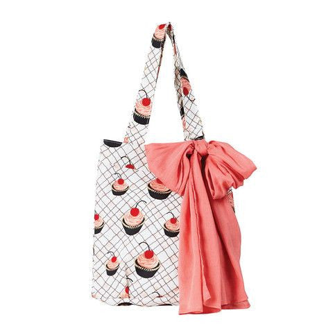 Cherry Cupcakes Tote Bag and Coordinating Scarf Set