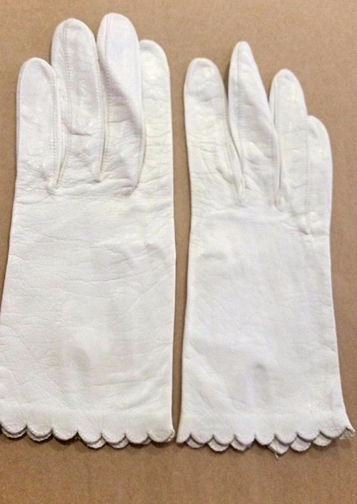 Vintage Midcentury Kidskin Leather Wrist Gloves
