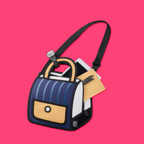 Outer Limits Blue Stripe Handbag / Shoulder bag