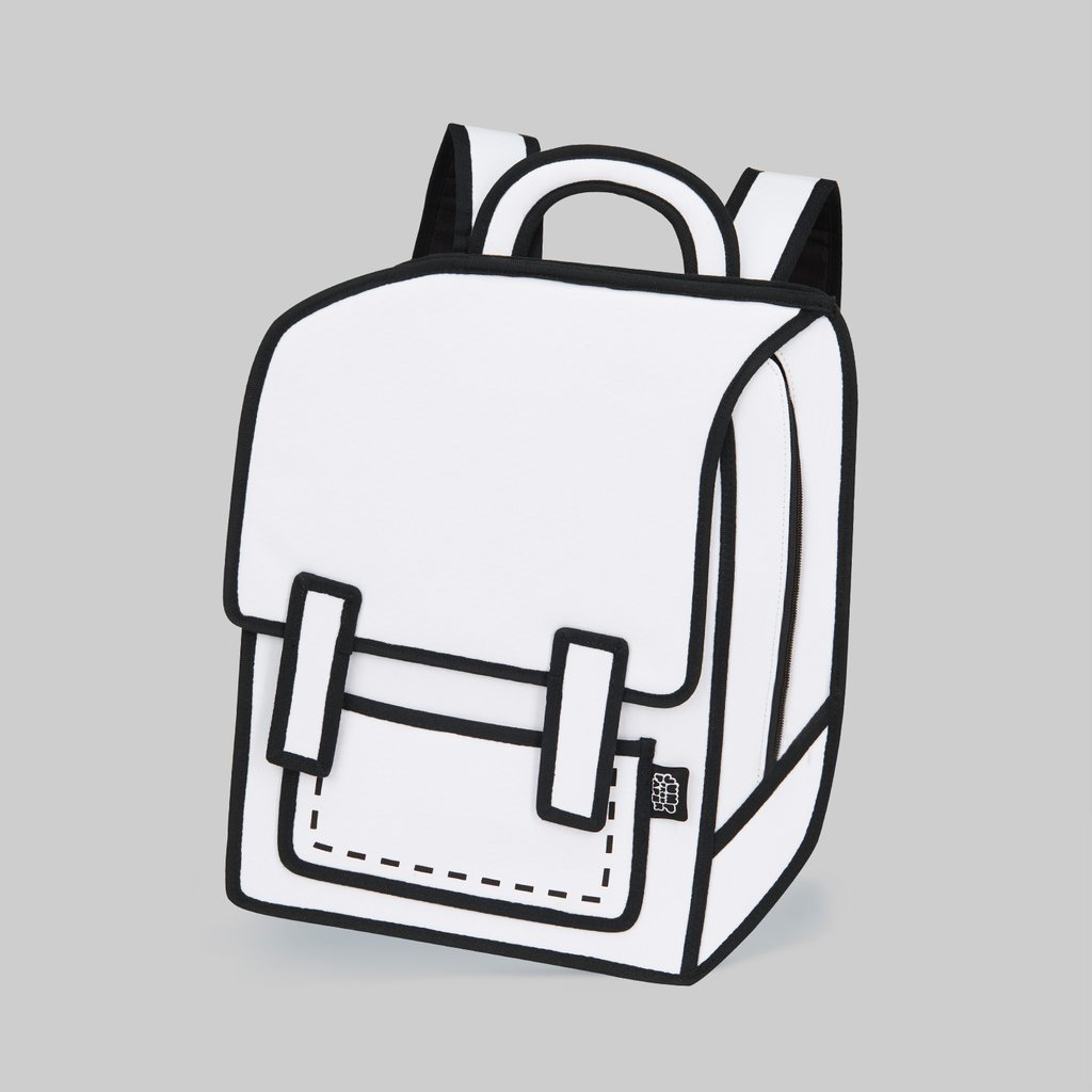 Jump from Paper 2D Cartoon Graffiti Spaceman Backpack