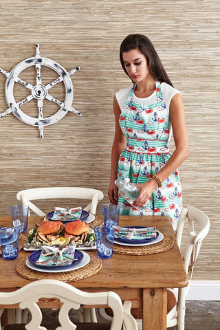 Nautical Waves Viola Hostess Apron