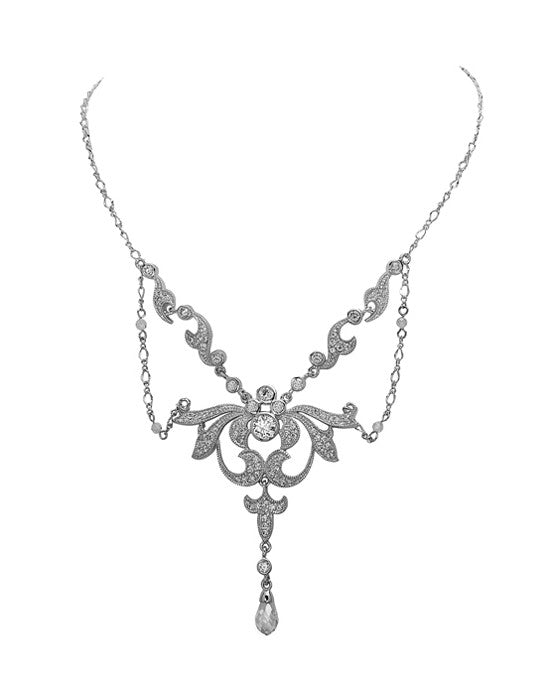 Ingrid Cubic Zirconia Necklace - 1920s Inspired