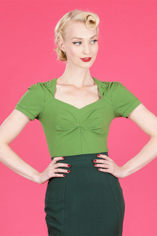 Gorgeous Verde Soft Stretch Top