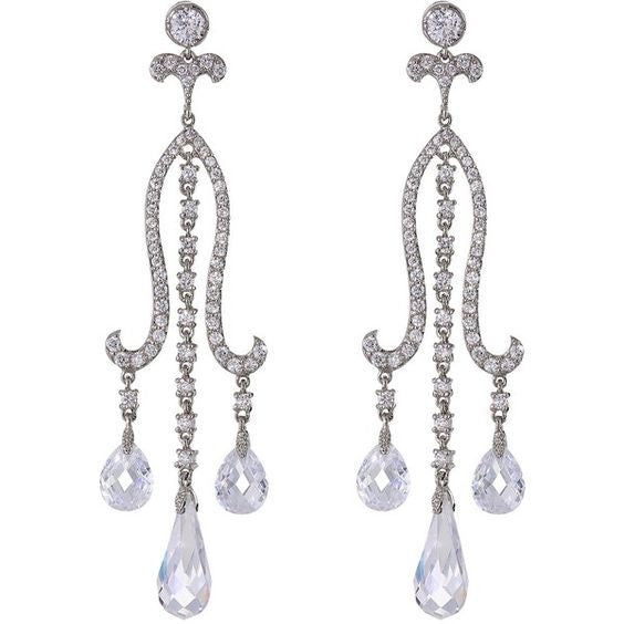 Elizabeth Briolette Chandelier Earrings