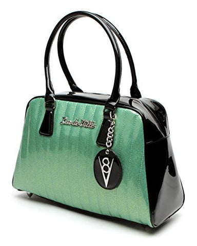 Lux de Ville V8 Large Tote Sparkle Baby Green and Black