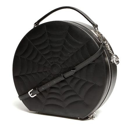 Black Widow Hatbox Purse Black Matte