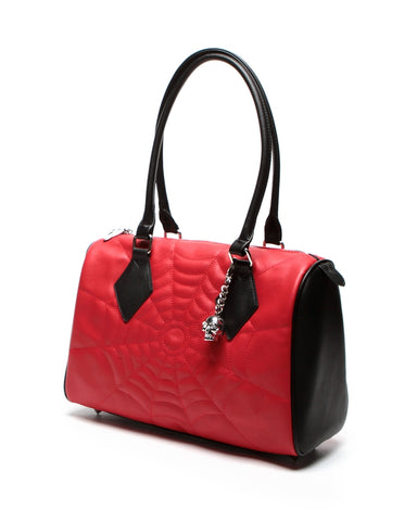 Black Widow Large Tote Red and Black Matte
