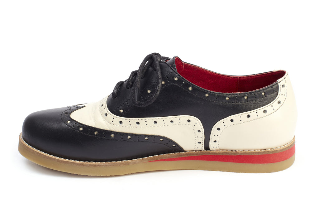 new concept 618f0 975d1 Lola Ramona Saddle Shoes Ladies Wingtip – Temptress Fashion