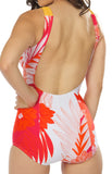 Tropical Orange Floral Farrah Swimsuit