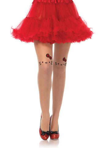 Hello Kitty Tattoo Face Signature Pantyhose