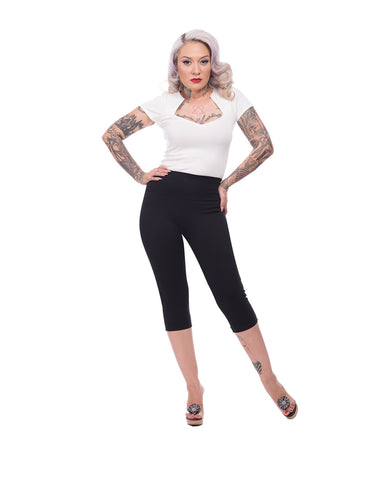 Audrey High Waisted Capris Super Flattering Fit